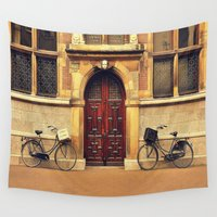 bicycles Wall Tapestries featuring Two Bicycles by Indigo Rayz