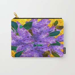 Spring Lilac Floral Bouquet Gold Patterns Carry-All Pouch