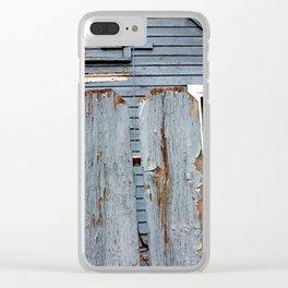 Blue Paint Clear iPhone Case