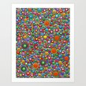 Colorful dotted Canvas 2 by Mandalaole- Spring by yusbellydiaz