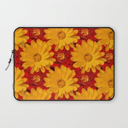 A Medley of Red and Yellow Marigolds Laptop Sleeve