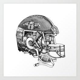 Football Helmet Art Print