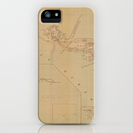 Hawaii Postal Route Map 1908 iPhone Case