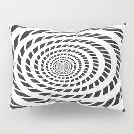BLACK LICORICE TWIST SWIRL Abstract Art Pillow Sham