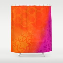 From orange to purple Shower Curtain