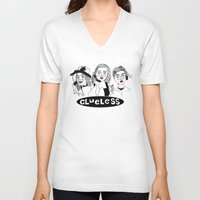 clueless V-neck T-shirts featuring Clueless by ☿ cactei ☿