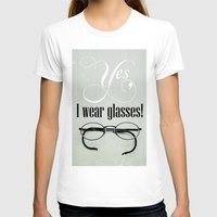 glasses T-shirts featuring Glasses by Julia Dávila-Lampe