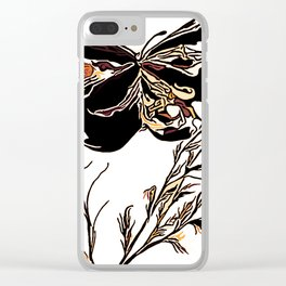 On Butterfly Wings Clear iPhone Case