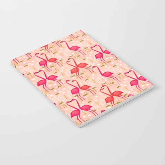 Flamingos by Andrea Lauren Notebook