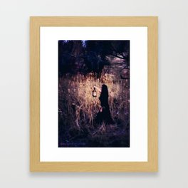 Lantern in the Dark Framed Art Print