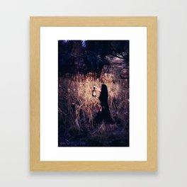 Lantern in the Dark Framed Art Print