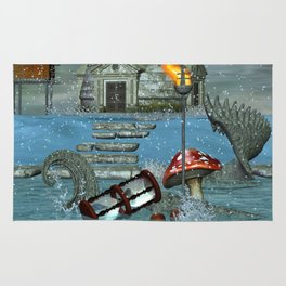 Mystery and Imagination 3D Fantasy Rug