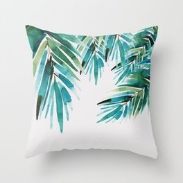 Under palm trees Throw Pillow