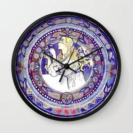 At Nouveau Cafe - by Fanitsa Petrou Wall Clock