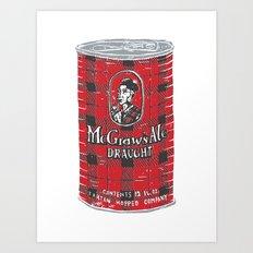 McGraws Ale Art Print