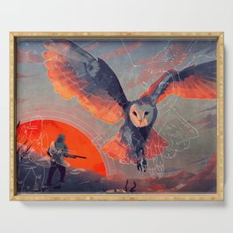 Owl Hunt Serving Tray