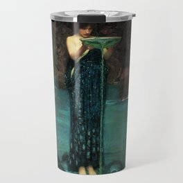 Circe Invidiosa on a background of leaves Travel Mug