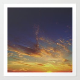 Sunset from the Mountain Art Print