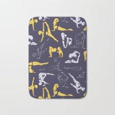 Yoga dancers II Bath Mat