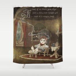 A Merrier World Shower Curtain