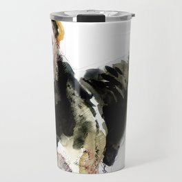 Airedale Terrier on watercolor Travel Mug