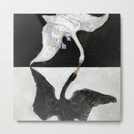 The Swan by Hilma a Klint Metal Print