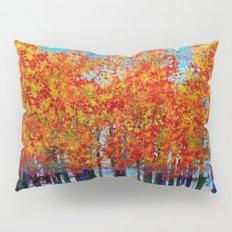 Fall Leaves On Plaid Pillow Sham