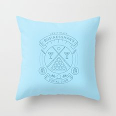 Members Only: Legitimate Businessman's Social Club Throw Pillow