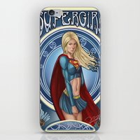 supergirl iPhone & iPod Skins featuring Supergirl  by Ryan Chan