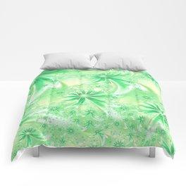 Pastel Green Wildflowers Comforters