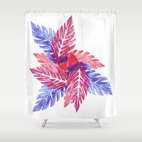 plants Shower Curtains featuring Plants by melanie johnsson