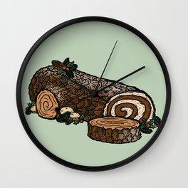 Y is for Yule Log Wall Clock