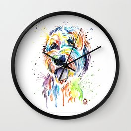 Goldendoodle - Doodle of. a doodle Wall Clock