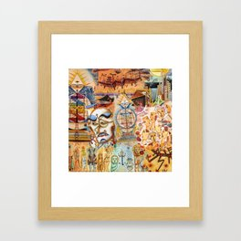 Xul Solar collage Framed Art Print