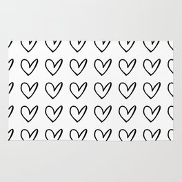 HEARTS ALL OVER PATTERN IV Rug