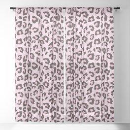 Leopard Print - Pink Chocolate Sheer Curtain