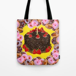 PINK FROSTED DONUTS BIRTHDAY PARTY Tote Bag