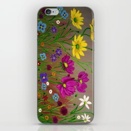 Spring Wild flowers  iPhone Skin