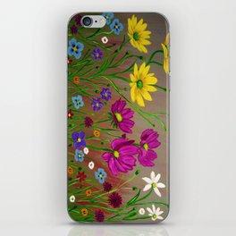 Spring Wild flowers  iPhone Skin