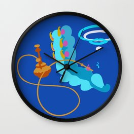 Blue Caterpillar (Dark Blue) Wall Clock