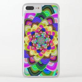 Hexagonal flower Clear iPhone Case