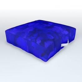 Rich Cobalt Blue Abstract Outdoor Floor Cushion