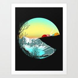 Pac camp Art Print