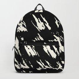 Modern Paint Ivory on Black Backpack