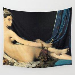 Jean-Auguste-Dominique Ingres - La Grande Odalisque Wall Tapestry