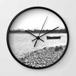 Lakescape Monochrome Wall Clock