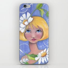 Whimiscal girl with Daisy's iPhone Skin