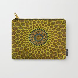 Yellow Arabic Mosaic Carry-All Pouch