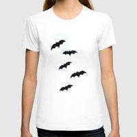 bats T-shirts featuring Bats by Jude's