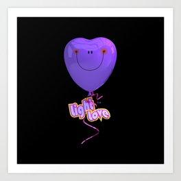 Light Love By THE-LEMON-WATCH Art Print